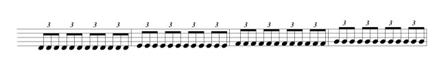 Triplets in written music