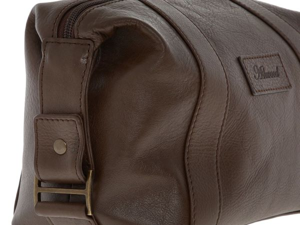 ASHWOOD Brown Leather Washbag RRP £50