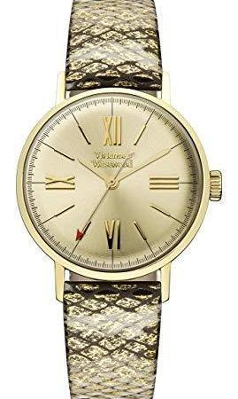 Vivienne Westwood Burlington Gold Snakeskin Strap Ladies' Watch VV170GDMT