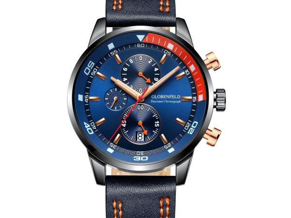 Globenfeld Daytimer Mens Royal Navy Blue Sports Watch - 0002DAYTIMER