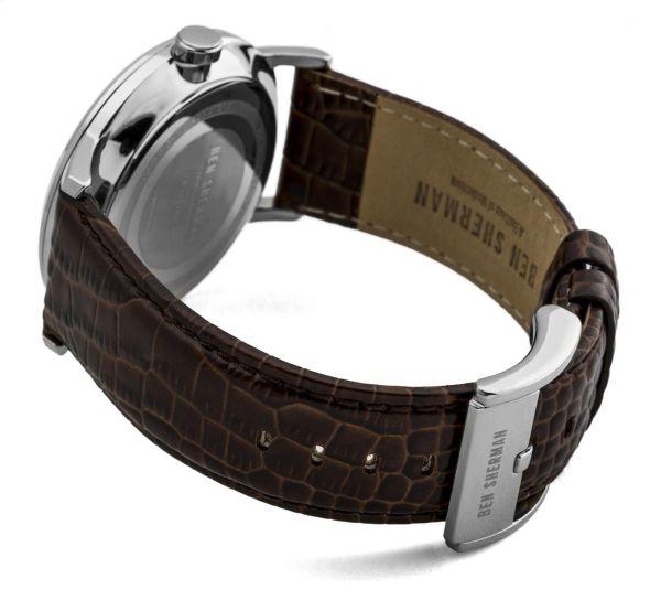 Ben Sherman Men's Quartz Watch with Black Dial Analogue Display & Brown Leather 1