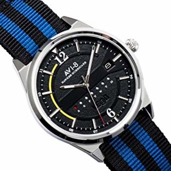AVI-8 Hawker Hurricane Black Dial Mens Watch 4044-02