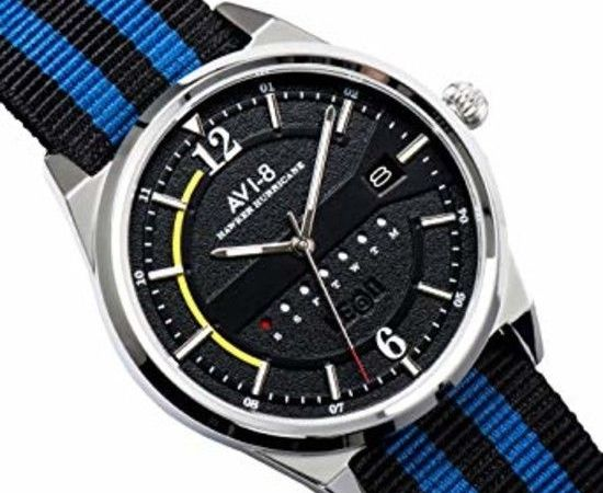 AVI-8 Hawker Hurricane Black Dial Mens Watch 4044-02