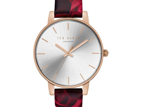 Ted Baker Women's Floral Leather Strap Watch TE15162008