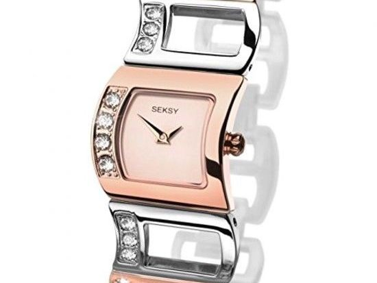 Sekonda Women's Watch Rose Gold Dial and Multi-Colour Stainless Steel Bracelet