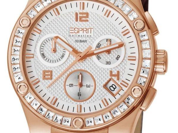 Esprit Collection Pherousa Women's Quartz Watch with White Dial Chronograph Disp