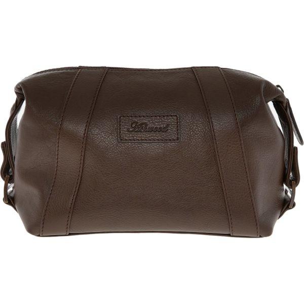 ASHWOOD Brown Leather Washbag RRP £50 1