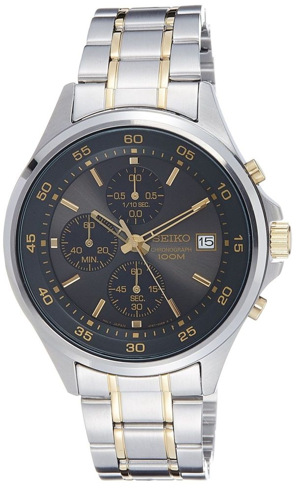 Seiko Men's Chronograph Quartz Watch with Stainless Steel Bracelet – SKS481P1