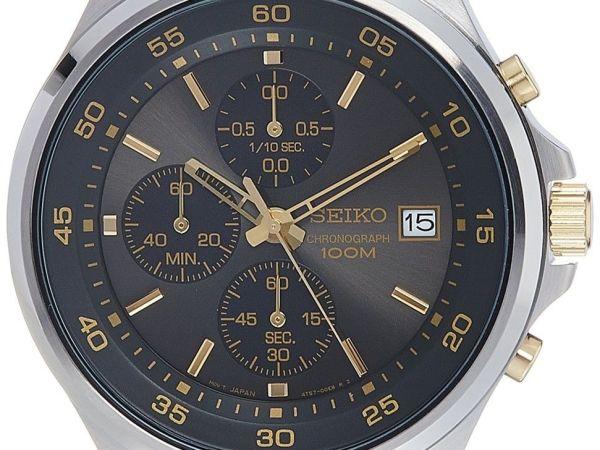 Seiko Men's Chronograph Quartz Watch with Stainless Steel Bracelet – SKS481P1