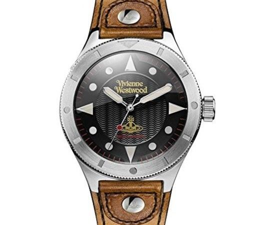 Vivienne Westwood Men's Watch Black Dial Analogue Display and Brown VV160BKBR