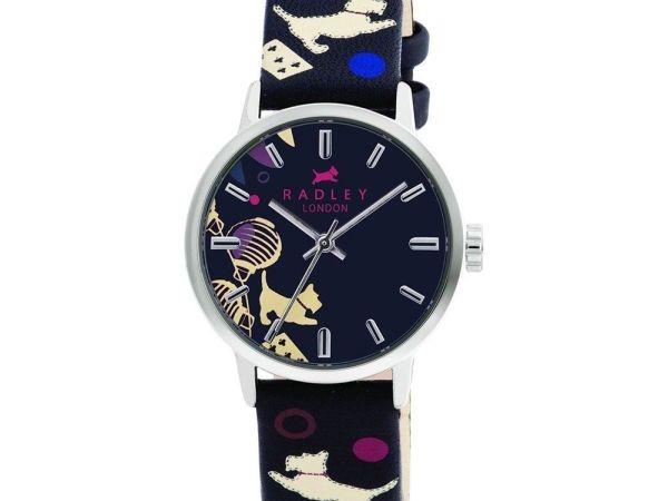 Radley RY2001 Ladies Black Printed Leather Strap Watch