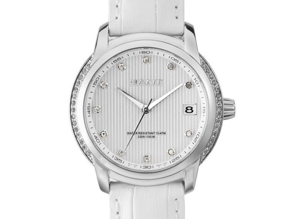 Gant Lynbrooke Women's Watch White Dial Display and White Leather Strap W10714