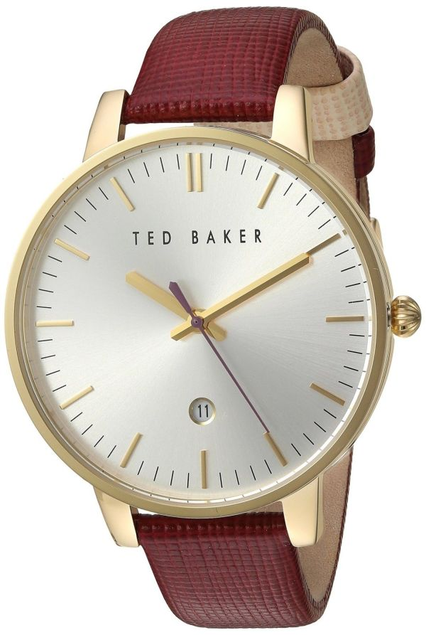ccc1fb657d602 Ted Baker Women s  Classic  Quartz Stainless Steel and Leather Dress ...