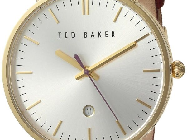 Ted Baker Women's 'Classic' Quartz Stainless Steel and Leather Dress Watch, Colo