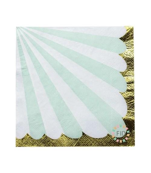 Servilleta Stripe Verde Pastel