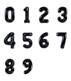 Globos Negro de Número