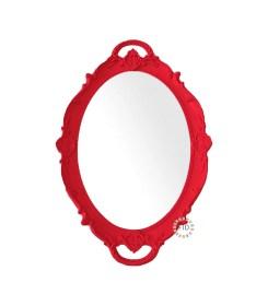 Bandeja Circular Rojo con Espejo