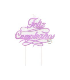 Vela Feliz Cumpleaños Lila