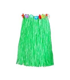 Falda Hawaiana Verde de 80cm