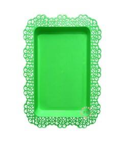 Bandeja Rectangular Verde x3
