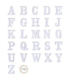 Letras LED A-Z