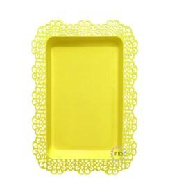 Bandeja Rectangular Amarillo x3