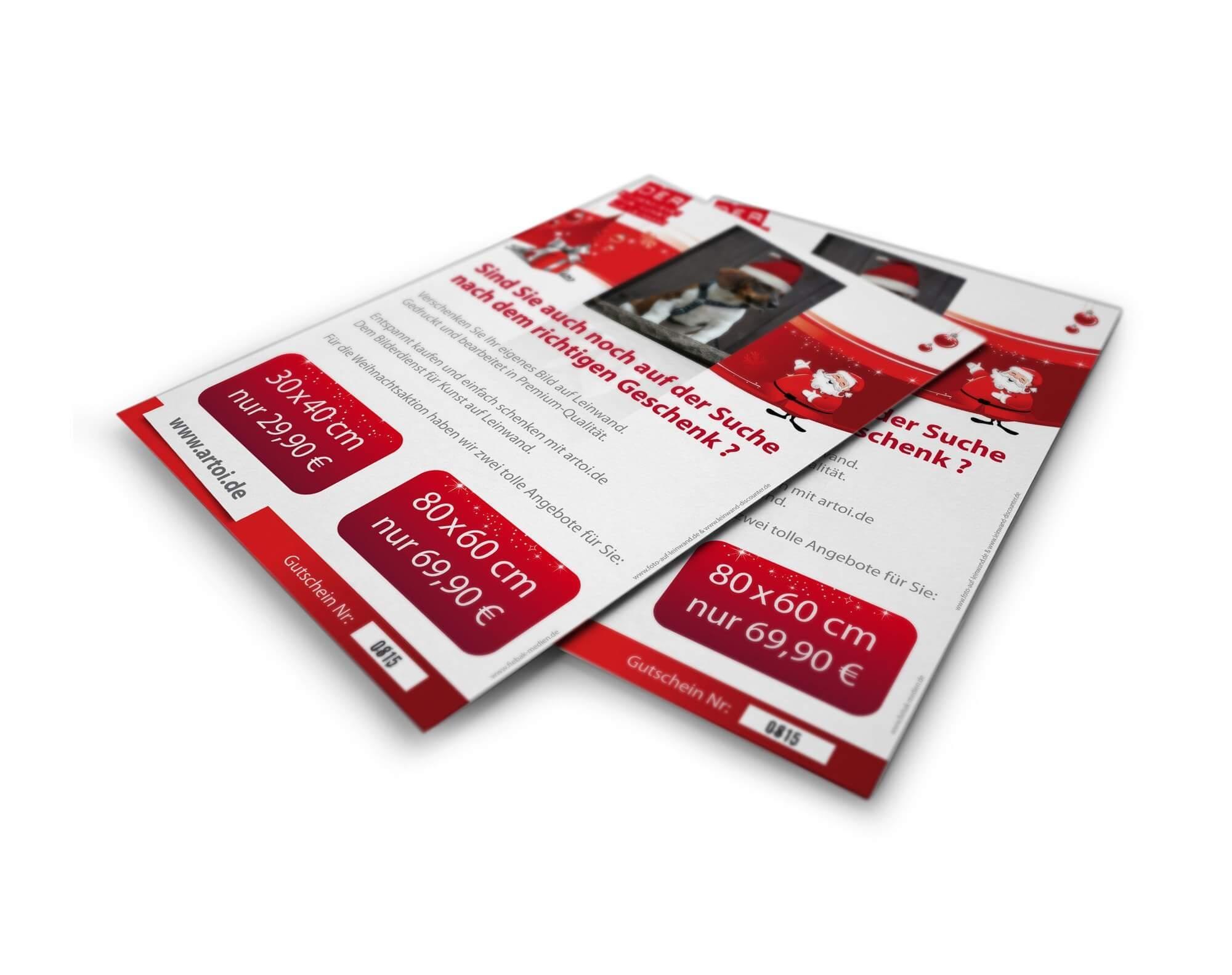 Weihnachten steht vor der Tür: Jetzt an Weihnachtsflyer, Weihnachtskarten oder den Weihnachtsnewsletter denken!