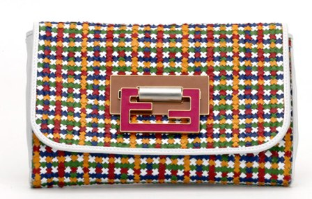 Fendi-Woven-Multicolor-Clutch