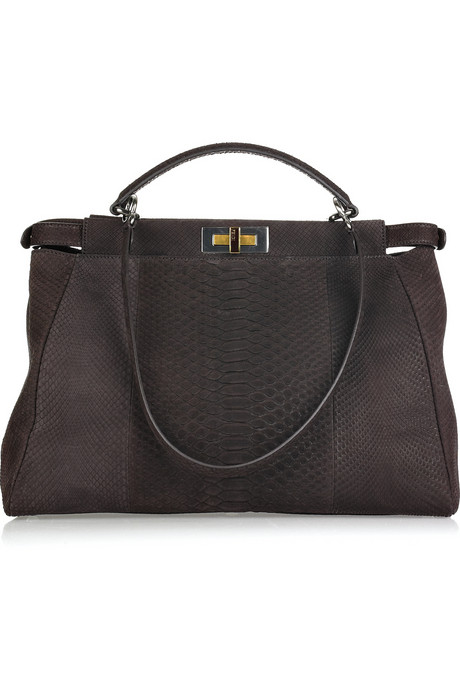 Fendi-large-Peekaboo-brushed-python-tote-1