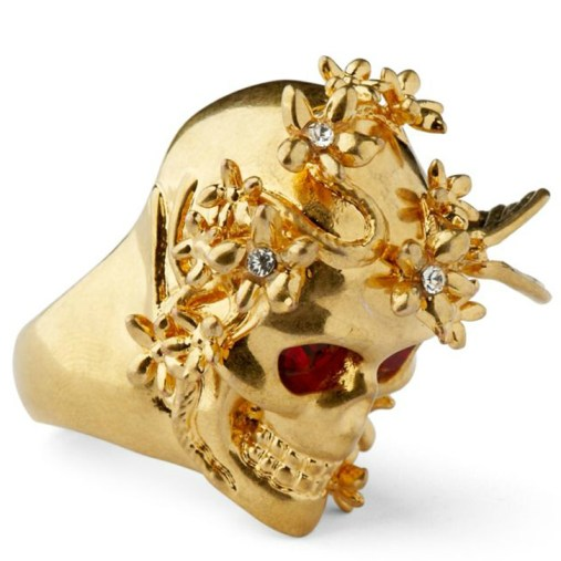 Alexander McQueen skull ring