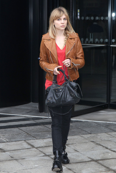 Clemence+Poesy+Celebrities+Arrive+Balenciaga