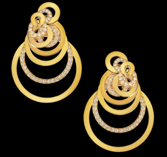 Gipsy earrings, De Grisogono