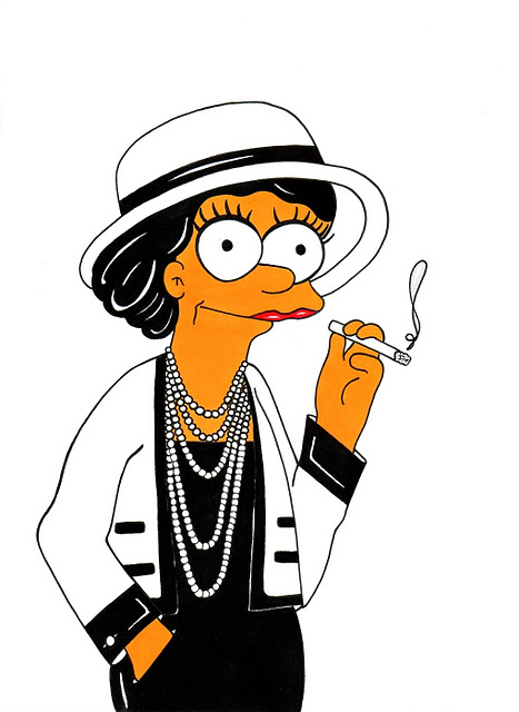 Marge-Simpson-Loves-Coco-Chanel.-Fashion-Simpsons-