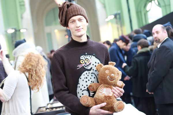 Backstage Fall Winter Men Louis Vuitton 2013-14