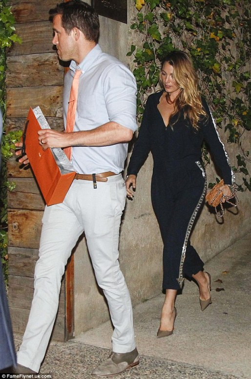Blake Lively y Ryan Reynolds en Celler Can Roca