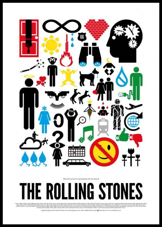 Pictogram-Rock-Posters Viktor Hertz