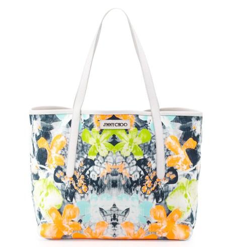 Jimmy-Choo-Sara-Medium-Orchid-Print-Tote