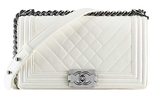 Chanel-Patent-Boy-Bag-White