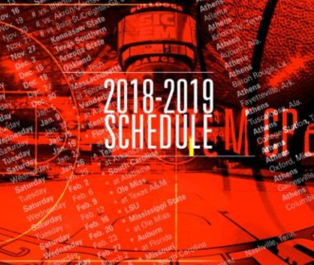 Athens Ga The Southeastern Conference Announced Its League Schedule For The 2018 19 Mens Basketball Season On Friday Including The Georgias 18 Game