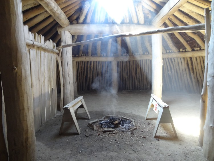 Interior of an earth lodge