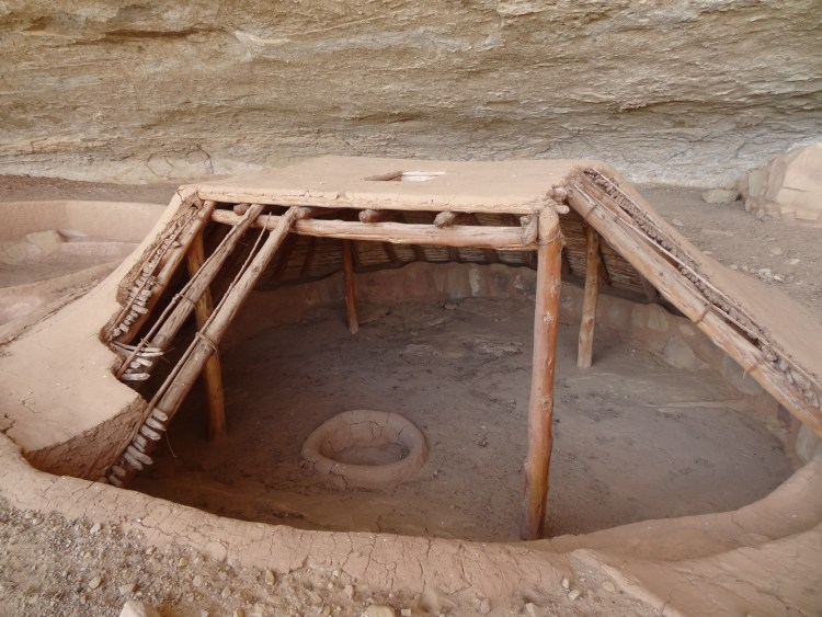 Pit house of the Ancestral Puebloans
