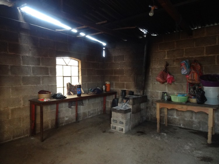 Smoky kitchen in Guatemala
