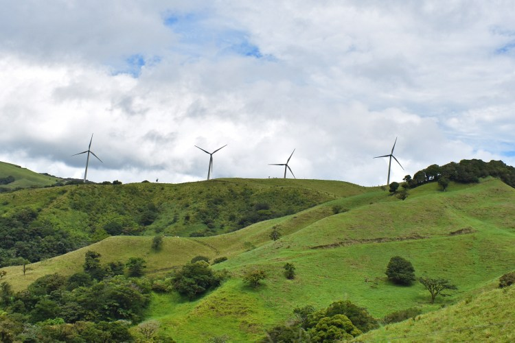 To meet increasing demand and to provide resilience in the face of climate change, Costa Rica is diverisfying its energy sources, for example to wind power.