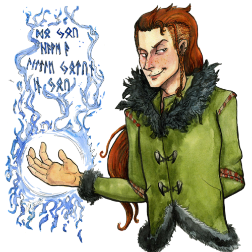 Watercolor Red-hair Loki