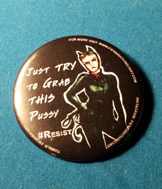 Catwoman #Resist Button