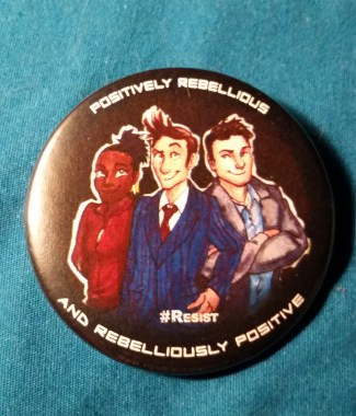 Doctor Who #Resist Button