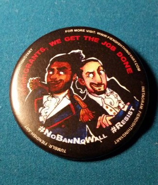 Hamilton #Resist Button