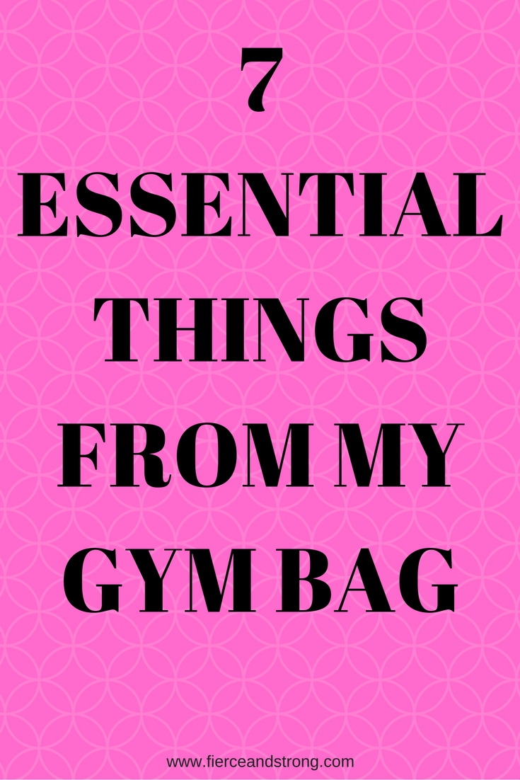 Want to mix up your gym bag? Or maybe you are new to the gym and are not sure what to start with for essentials. Check out these 7 essential things from my gym bag to get some ideas!