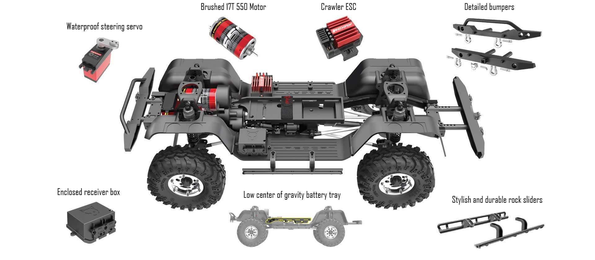 Redcat Gen8 Scout Ii 1 10 Scale Crawler Blue