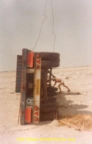 En Arabie, on a mis la remorque sur champ pour pouvoir la recharger sur une semi.